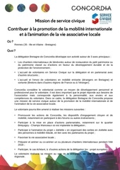 mission sc promotion mobilite et animation vie associative