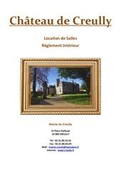 reglement chateau creully 2