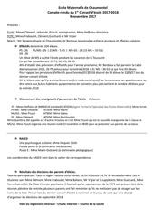 compte rendu conseil d ecole du 9 novembre 2017 mater