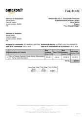 Fichier PDF facture alim