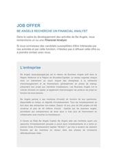 Fichier PDF job offer