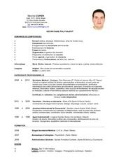 Fichier PDF cv lm de maurice cohen secretaire polyvalent avec photo