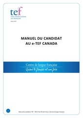 Fichier PDF manuel candidat e tef canada