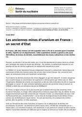 Fichier PDF les anciennes mines d uranium en france un secret d etat
