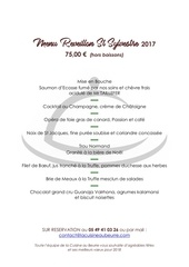 menu reveillon 2017 vitrine