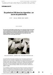 polonium 210 dans les cigarettes un secret de polichinelle