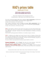 kao prices table