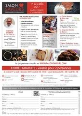 Fichier PDF invitation salon saveurs
