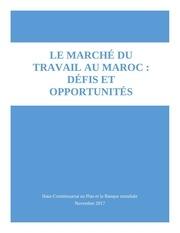 le marche du travail au maroc defis et opportunites