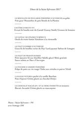menu saint sylvestre 2017