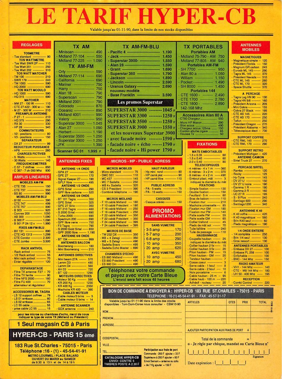 Radio CB Magazine 1990 10 No109 - Fichier PDF