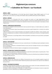 Fichier PDF reglement jeu concours calendrier de l avent 1