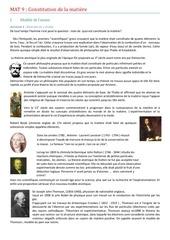 mat 9 constitution de la matiere