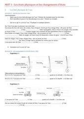 mat1 etats et les changements