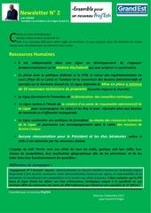 Fichier PDF newsletter 2 ressources humaines proj est