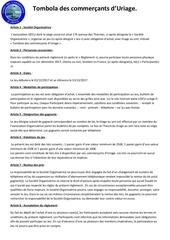 reglement de la tombola des commercants d
