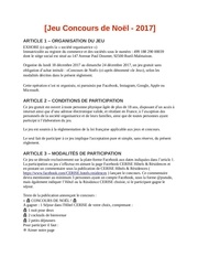 reglement jeu concours de noel 2017 pdf