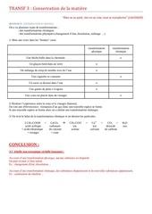 transf 3 conservation de la matiere