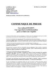 gaz radon supercherie institutionnalisee lamireau 2007