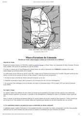 mines d uranium du limousin etude de la criirad