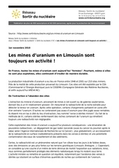 mines uranium limousin toujours actives rsdn article6675