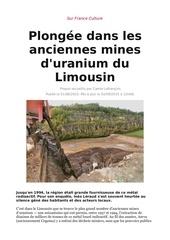plongee dans les anciennes mines d uranium du limousin