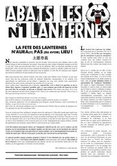 premiere page a bas les lanternes