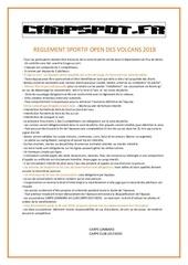 reglement open des volcans 2018