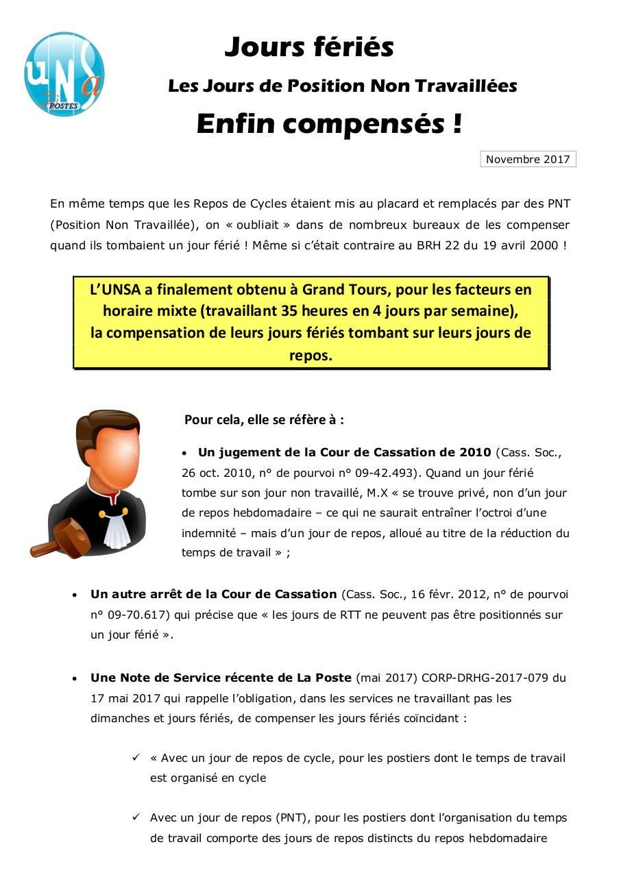 743c5a5d1c8 TRACT - jours feries sur JNT enfin compenses.pdf - page 1 2. TRACT - jours  feries ...