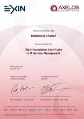 itil certificate