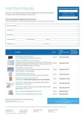 10 formulaire fournitures