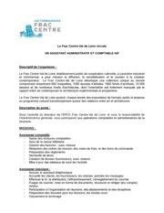 frac centre assistant administratif et comptable