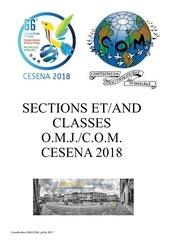 sections et classes com cesena 2018 v1