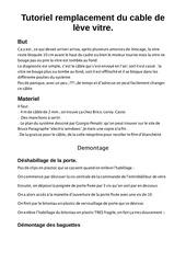 Fichier PDF tuto changement du cable de vitre