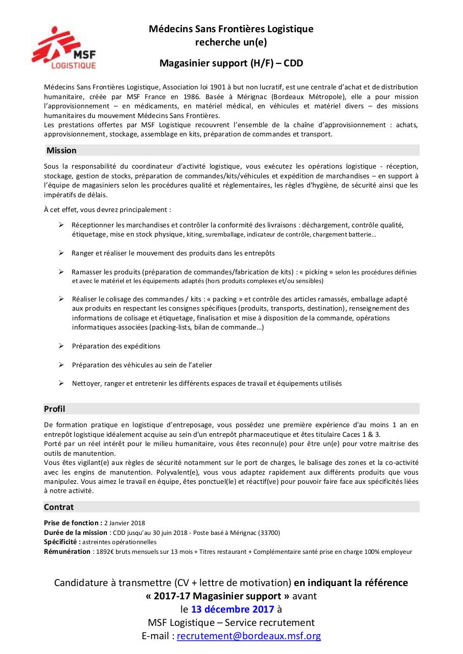Aperçu du document 201717 - Magasiniers support CDD_Annonce.pdf - page 1/1