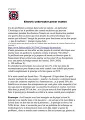 electrique underwater power station