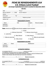fiche de candidature u14