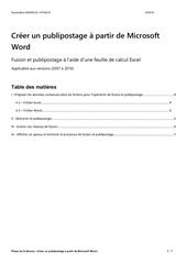 Fichier PDF support publipostagex