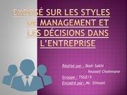 expose sur les styles de management et les
