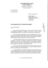 Fichier PDF opinion legale avocat italien