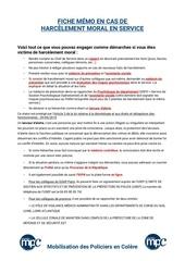 Fichier PDF memo harcelement