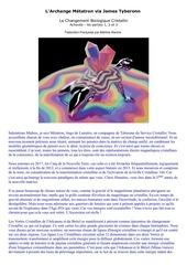 le changement biologique cristallin