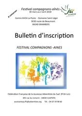 bulletin inscription festival compagnons 2018