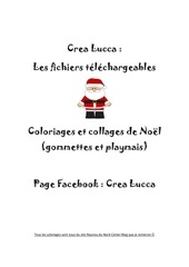 coloriages et collages de noel