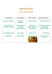 Fichier PDF menus de la cantine 8 janvier