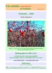 carnets nat vendoire bibliographie d raymond 2017
