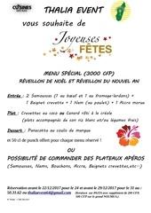 menu noel et nouvel an 1