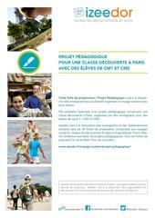 projet peda voyage scolaire paris