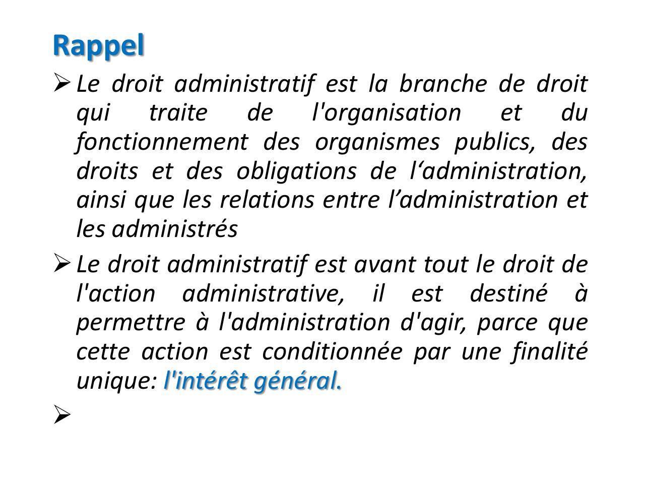 Cours Droit Administratif L Action Publique Troisième