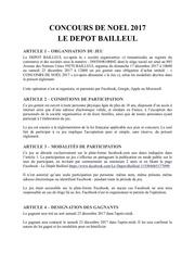 reglement concours de noel le depot bailleul